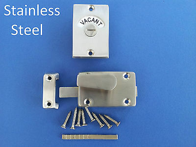 Indicator Bolt Stainless Steel Bathroom Toilet Door Lock Vacant Engaged Bathroom