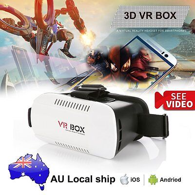 VR BOX Headset Virtual Reality 3D Movie Game Glasses for Samsung Note 4/5 S6 S5