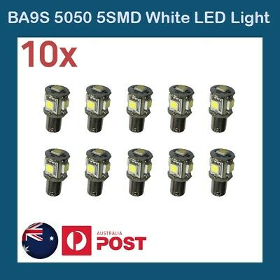 10 X  5050 5 SMD WHITE Bayonet BA9S Car Interior Reverse Backup Tail Light 5LEDs
