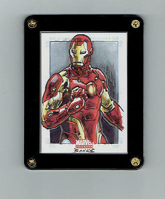 Iron Man Original Art Sketch Card Marvel Universe Sketchafex