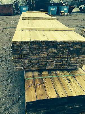 Timber Decking Boards 3m Long Treated 28mmx 120mm Wide 10ft Boards