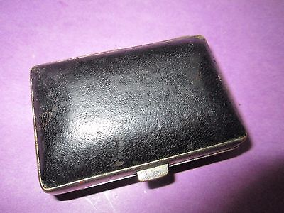 Antique Japanese Stamp in tin box with Wax Sealer/box are covered with leather