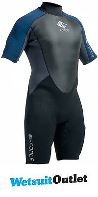 2017 Gul G-Force 3mm Mens Shorty Wetsuit Black / Navy GF3305-A9