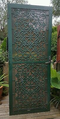 Lovely antique style metal security door.  Cast lace look Heavy duty  flywire #2