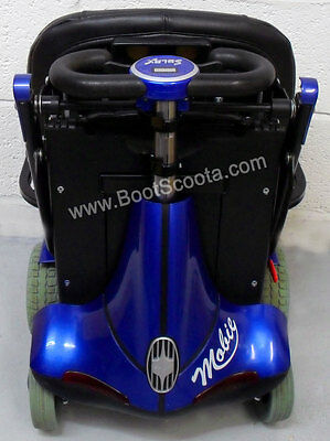 Blue MOBIE SOLAX Folding Boot mobility scooter with ARM RESTS P226 FREE DELIVERY