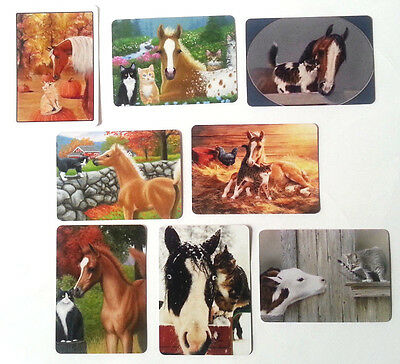 8 Horses, Kittens & Cow  Swap / Playing Cards - Modern Wide