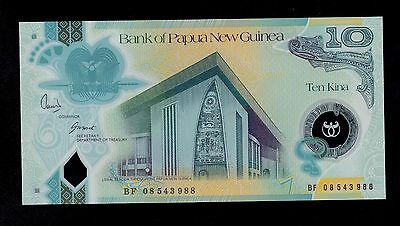 Papua New Guinea 10 Kina  ( 2008  )  Bf Polymer  Pick # 30 Unc  Banknote.