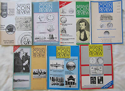 1988 AUSTRALIAN COIN REVIEW x 7  ISSUES January to July