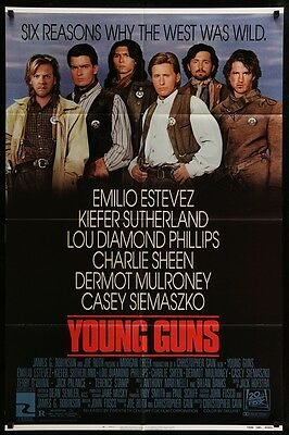 Young Guns  Original Movie Poster 1988 27x41 Folded US One Sheet