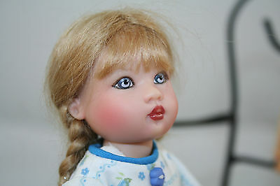 """Helen Kish Riley doll 7.5"""" - Comes with homemade dress (not me). So pretty !!!"""