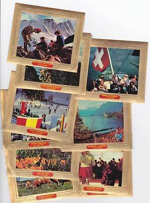 30 cigar bands Lugano Vignets Tourist Sights Of Switserland Iss 1964 iss in 1964