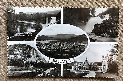 Ballater - multiview card 1950/60 valentines Real Photo