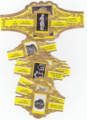 11 cigar bands Lugano Special - Series Oud Harelbeke yellow iss in 1973