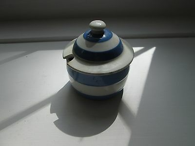 Blue and White T G Green and Co, Cornishware Mustard Pot