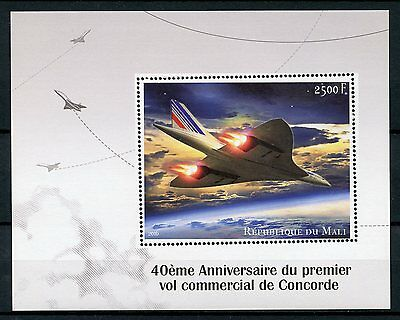 Mali 2016 MNH Concorde 1st Commercial Flight 40th 1v S/S Aviation Stamps