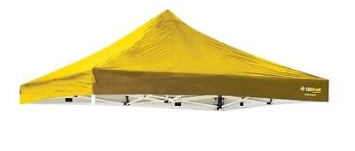 OZTRAIL CANOPY REPLACEMENT FOR 3x3M DELUXE GAZEBO COLOUR:YELLOW 300 DENIER ROOF