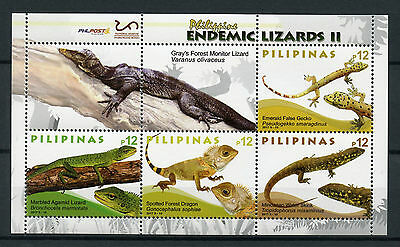 Philippines 2017 MNH Lizards Geckos Skinks Monitor Lizard 4v M/S Reptiles Stamps