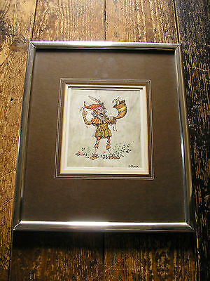 Original Faerie Piper and Faerie Horn Player Watercolours by R.A. Palmer