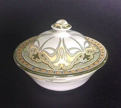 Rare Art Nouveau Royal Doulton Aubrey Lidded Soap Dish / Drainer bowl