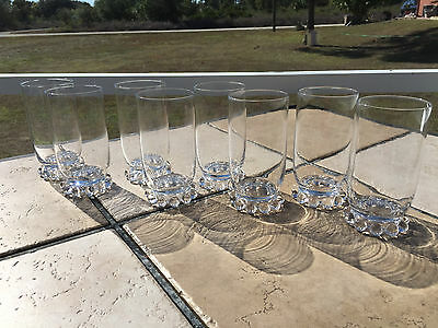 "Set Of 8 Imperial Candlewick 5 3/8"" Tall 12 Oz Tumblers"