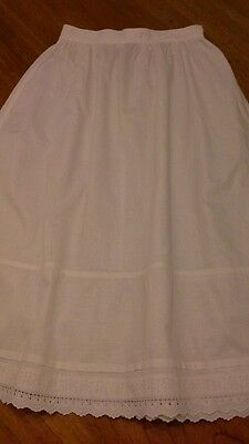 Vintage original Edwardian girls broiderie anglais petticoat