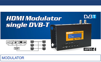 Hdmi Rf Modulator Digital High Definition Hd 1080P Edision Dvb For Sat,sky