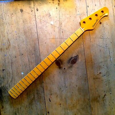 STUNNING new Retrovibe Volante Bass guitar neck all Maple Vintage Tint Gloss