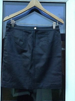 Brand New Size 12 Black Leather Look Skirt By H&M
