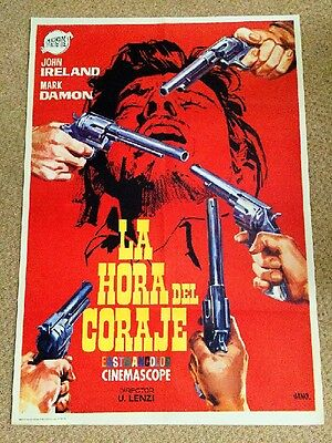 GO FOR BROKE Original SPAGHETTI WESTERN Movie Poster JOHN IRELAND MARK DAMON