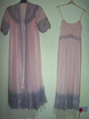 vintage nightdress/negligee/peignoir set