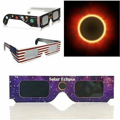 2017 Galaxy Edition Solar Eclipse Glasses ISO Standard Viewing Cool 1/5/10 Pack