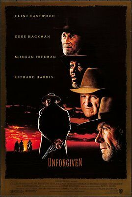 "Unforgiven (1992). Original US One Sheet (27"" X 40"") double sided - Eastwood"