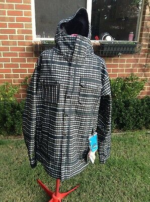 SOFTSHELL SNOW JACKET PLAID PRINT 10K Mens Size Large