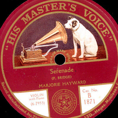 "MARJORIE HAYWARD - Violine - Serenade (Bridge) / ""The Rainbow Ends"" 78rpm S4120"