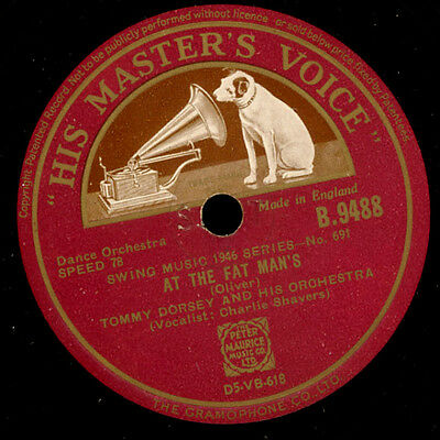 TOMMY DORSEY & HIS ORCHESTRA  At the Fat Man's / Chloe    Schellack 78rpm  X2101