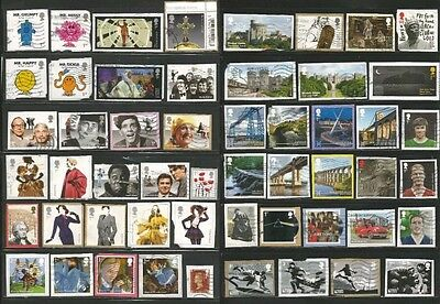 GB 2 pages recent commemoratives kiloware high values all different to 2017  C4