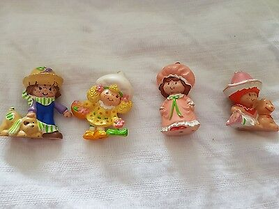 strawberry shortcake mini pvc miniature x 4 lemon huck nightgown cafe ole