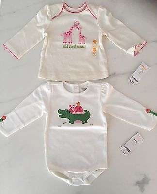 BNWT Baby Girl Gymboree top tee t-shirt and bodysuit size 6-12 months