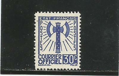 FRANCE service 30c outremer n° 2 neuf (*) cote 40 €