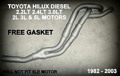 TOYOTA HILUX 1982 to 2003 EXHAUST MANIFOLD HEADERS / EXTRACTORS  FREE GASKET