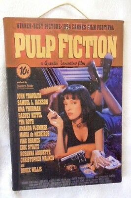 "Pulp Fiction  Reproduction/ Print / Poster on Canvas 20cmX12cm (7.8""X4.7"") Used."