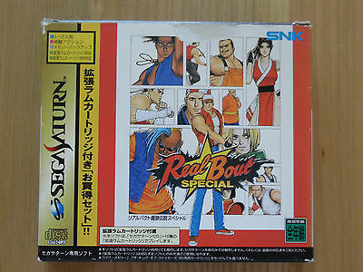 FATAL FURY Real Bout SPECIAL - Sega Saturn NTSCj Boxed Complete RAM pack