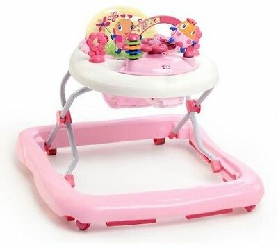 Adjustable Height Walk A Bout Walker Chair For Baby Girl w/ Toys and Melodies