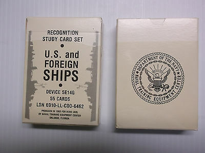 Recognition Study Cards U.s. And Foreign Ships And Aircraft Planes Military