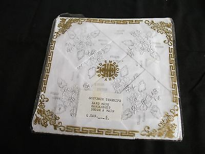 Souvenir Tenerife Hand Made Hand Embroidered Vintage Hankerchiefs