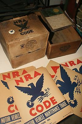 NRA - National Recovery Act - 7 Piece Group 1933-1935