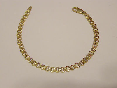10K YELLOW GOLD BRACELET 6.75 LONG x 4mm WIDE--WEIGHTS 4.44 GRAMS