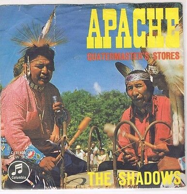 "7"" - SHADOWS - APACHE - german PS"