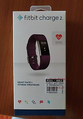 Cardiofrequenzimetro contapassi fitness heart rate Fitbit charge 2