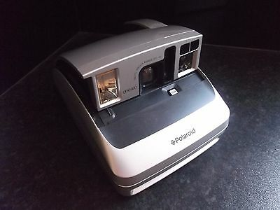 Polaroid One 600 Instant Camera Silver Uses 600 Film